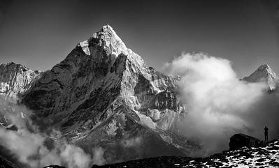 Ama Dablam as seen from the lodges of Dzongla below the Cho La pass