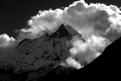 Macchapuchare as seen from Annapurna Base Camp