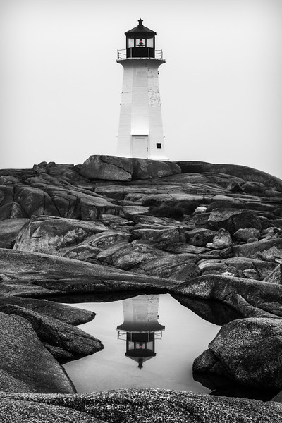 Peggy's Cove Lighthouse in Reflection
