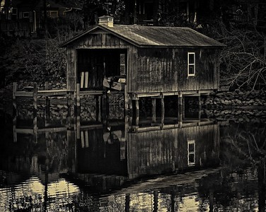 An Old Boat House on Weatherall Creek in the Northern Neck of Virginia