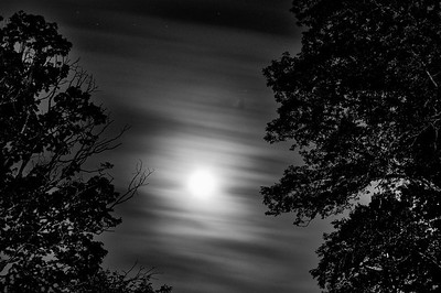 A full moon over the Northern Neck of Virginia