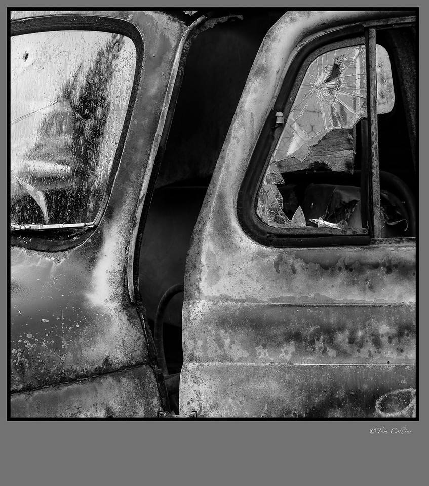 truck door 1x1 framed signed-2