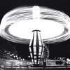 """Turbo Blaster Wanted"", light in motion, shot on black and white film by Nick SHiflet"