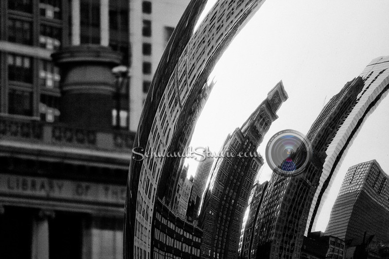 """Cloud Gate, Chicago IL, Atleast it's my take on it.  It's hard to shoot something that everyone and their brother have taken pictures of.  My goal was to try and avoid all the foot traffic ( to exclude """"undesirables"""") so I shot this quite tightly"""