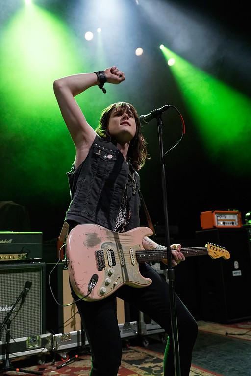 . Tyler Bryant & The Shakedown live at Fillmore Detroit on 3-10-18.  Photo credit: Ken Settle