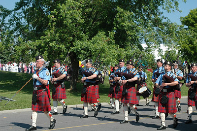 Pipes and Drums of the City Police. Special thanks to these volunteer musicians.