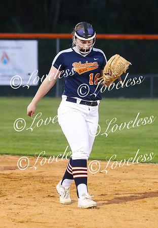Softball action