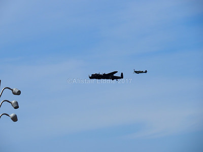Battle of Britain Memorial Flight Lancaster and Spitfire (8)