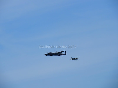 Battle of Britain Memorial Flight Lancaster and Spitfire (3)