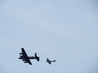 Battle of Britain Memorial Flight Lancaster and Spitfire (5)