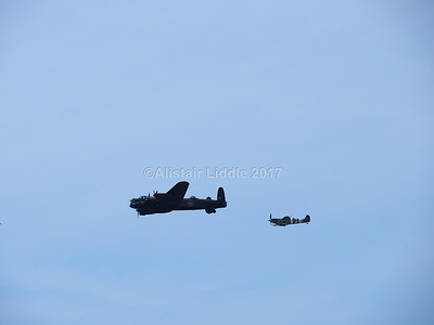 Battle of Britain Memorial Flight Lancaster and Spitfire (4)