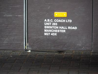 A.B.C. Coach, Manchester Neoplan Tourliner MX10 DFJ legal lettering