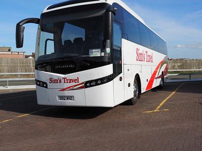 Sim's Travel, Boot, Cumbria Volvo B9R Jonckheere SHV SO12 WHZ new to Parks of Hamilton (1)