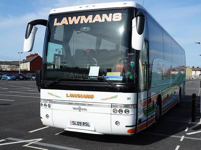 Lawman Coaches, Kettering Volvo B12B Van Hool Alizee T9 SL09 RSL (2)