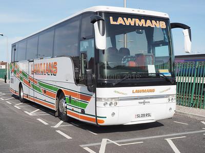 Lawman Coaches, Kettering Volvo B12B Van Hool Alizee T9 SL09 RSL (1)
