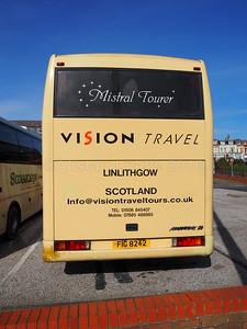 Vision Travel, Linlithgow Volvo B10M Jonckheere Mistral 50 FIG 8242 (3)