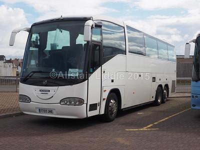 Globe Holidays, Barnsley Scania K124IB6 Irizar Century T737 JHE