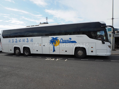 Omega Travel, Miton Keynes Scania Touring Higer YT15 AWO offside