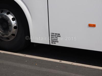 Stott, Milnsbridge Volvo B9R Caetano Levante (Nat. Ex.) BK14 LFF legal lettering