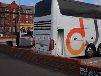 DJ Coaches, Gravesend Van Hool TDX27A YJ14 CDE rear