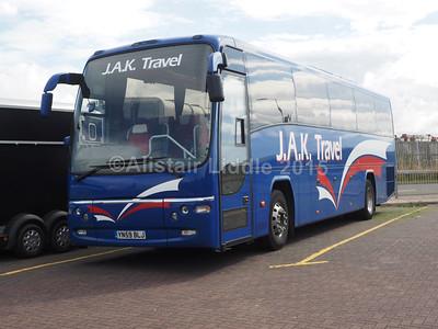 J.A.K. Travel, Bradford Volvo B9R Plaxton Panther YN59 BLJ