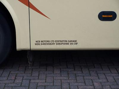 NCB Motors, Wem Volvo B9R Jonckheere SHV SO12 VUV legal lettering