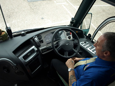 Johnson Bros., Worksop DAF Irizar i6 123 RT main office and VERY friendly driver