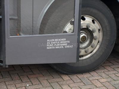 Beachers, Flint Volvo B10M Van Hool Alizee T8 BBZ 232 legal lettering