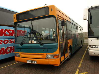 Probably Catch 22 Bus, but no legal lettering Dennis Dart Plaxton Pointer S302 CHB Ex Cardiff Bus