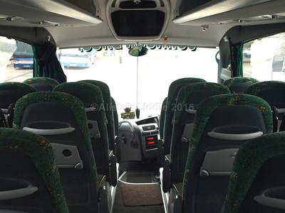 Johnson Bros., Worksop DAF Irizar i6 123 RT interior looking forward