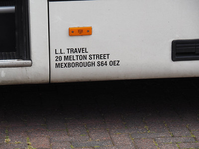 LL Travel, Mexborough Mercedes-Benz Vario Plaxton Cheetah YN09 AOM legal lettering