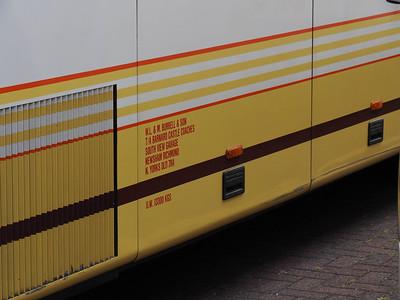 Burrells, Newsham Volvo B10M Van Hool T9 W441 DYG legal lettering