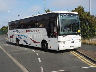 Timewell's Maghull Volvo B12M Van Hool Alizee T9 MX04 AEG new to Shearings (1)