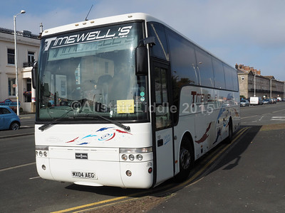 Timewell's Maghull Volvo B12M Van Hool Alizee T9 MX04 AEG new to Shearings (2)