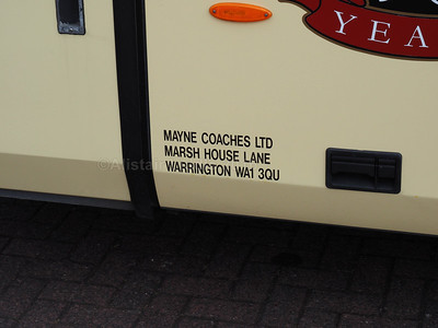 Mayne, Warrington Scania K310IB4 Irizar i4 62 YT59 NZJ legal lettering