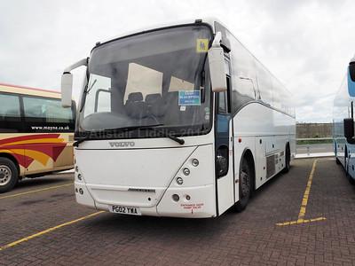 Globe Holidays, Barnsley Volvo B12M Jonckheere Mistral PG02 YWA (1)