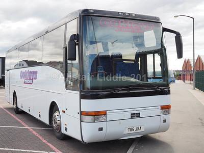 Oakley Coaches Volvo B10M Van Hool T9 T115 JBA