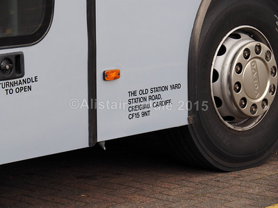 Creigiau Travel, Creigiau, Cardiff Volvo VDL Jonckheere S12 CTL legal lettering