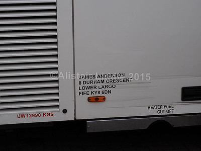 Anderson Coaches, Lower Largo Volvo B10M Berkhof Axial T732 JGB legal lettering