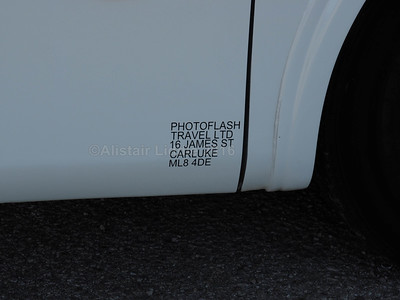 Photoflash, Carluke Scania Irizar PB R77 PHO legal lettering