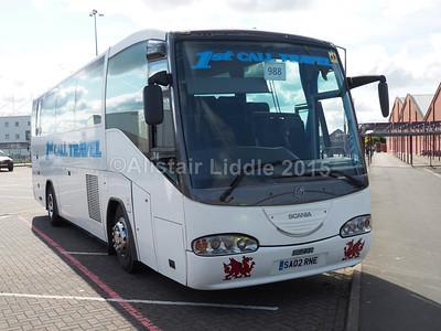 1st Call Travel Scania K114IB4 Irizar Century SA02 RNE new to Forsyth, Glasgow