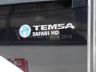 MacDonald Coaches, Motherwell, David Urquhart Travel Temsa Safari HD YJ13 GWC Temsa badging