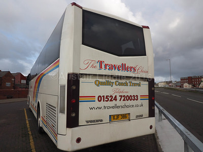 The Travellers Choice, Carnforth Volvo B12B Jonckheere SHV XJF 386 (3)