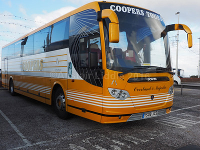 Coopers Tours, Sheffield Scania Omniexpress YS09 JCS (1)