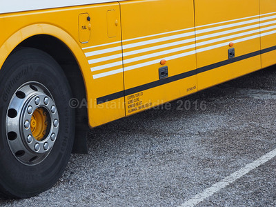 Coopers Tours, Sheffield Scania Omniexpress YS09 JCS legal lettering