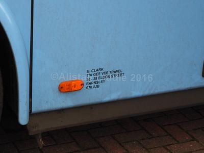 Gee-Vee Travel, Barnsley VDL Bova Futura GT11 GVT legal lettering