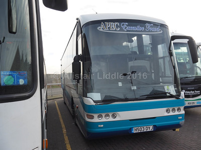 APEC Executive Travel (Barnards Coaches) Gainsbotough Neoplan Euroliner HS03 OYJ (1)