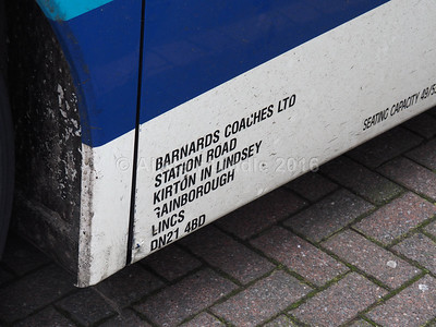 APEC Executive Travel (Barnards Coaches) Gainsbotough Neoplan Euroliner HS03 OYJ legal lettering