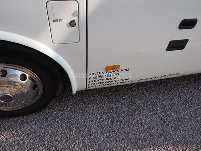 Arleen Coach Hire, Bath Yutong TC9 YG65 ARZ legal lettering