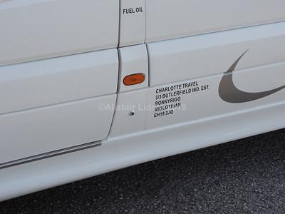 Charlotte Travel of Bonnyrig Mercedes Benz Sprinter 516CDi Excel S29 CHT legal lettering